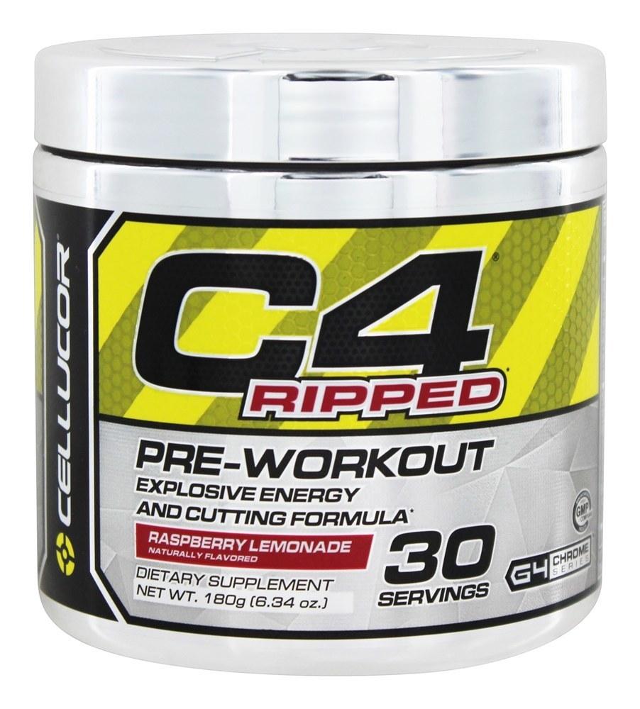 Cellucor C4 Ripped Pre-Workout Powder Raspberry Lemonade ...