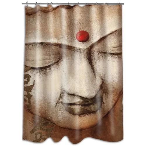 mod home serene buddha shower curtain
