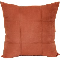 Mainstays Baked Clay Suede Decorative Pillow, Rust ...