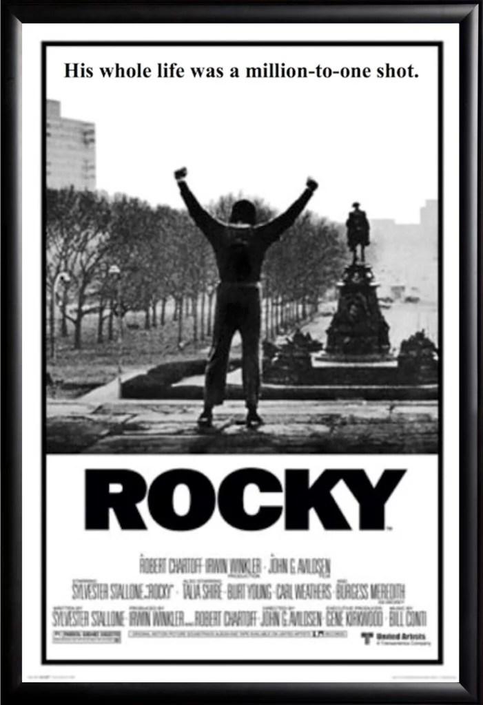 rocky movie poster framed black
