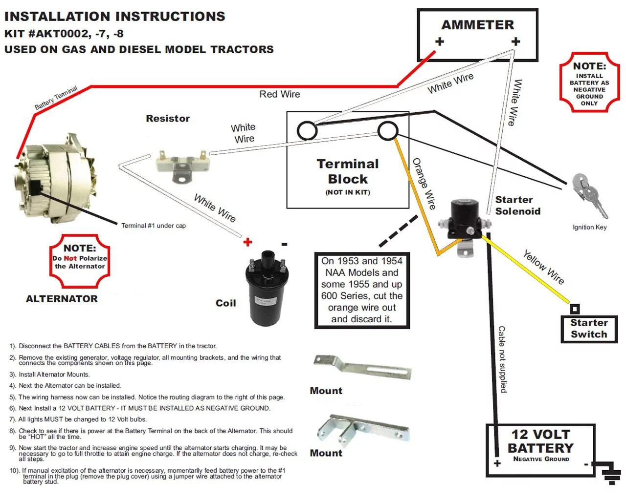 medium resolution of new alternator conversion kit fits ford naa tractor generator 851new alternator conversion kit fits ford naa