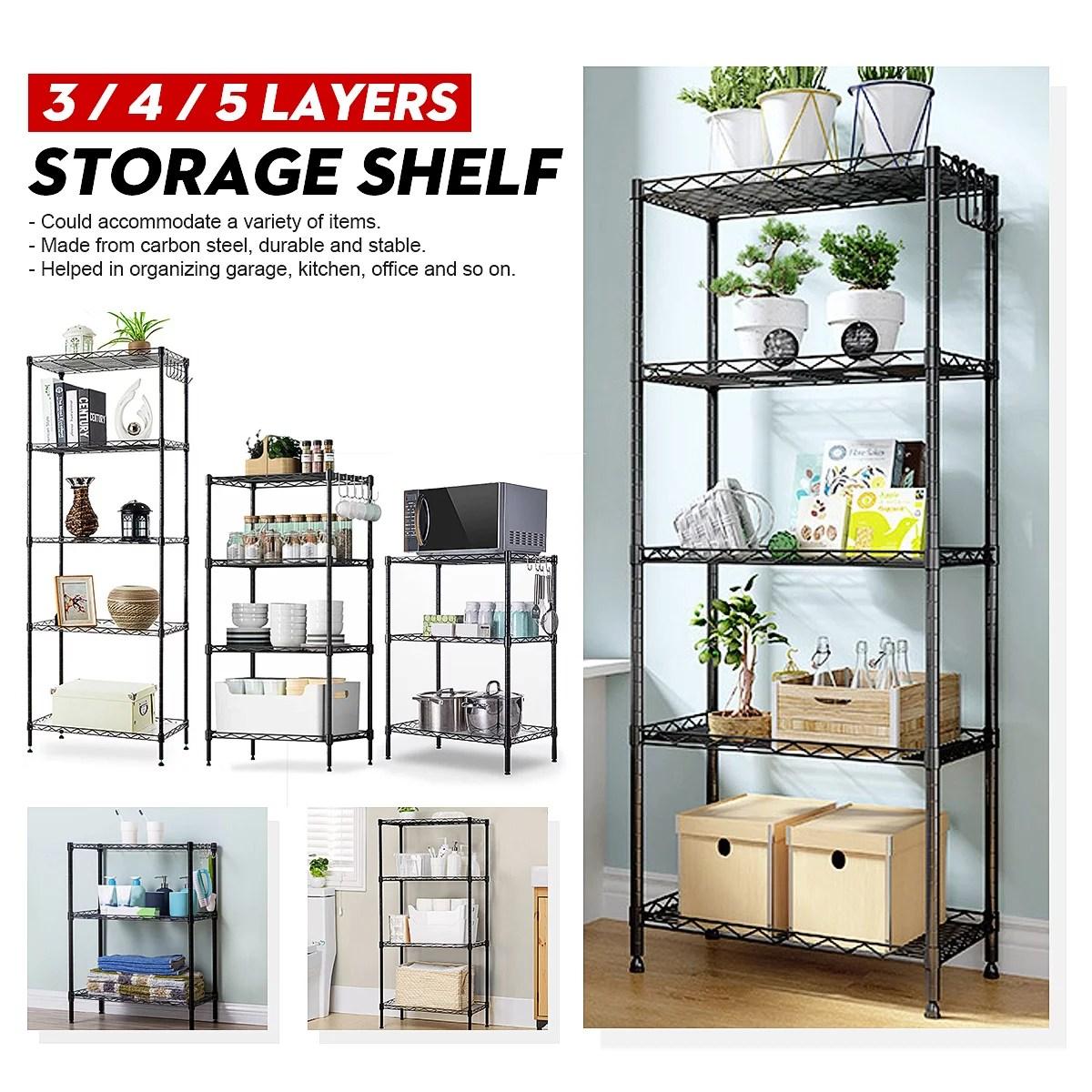 steel wire shelving unit heavy duty metal shelves shelf organizer rack for home office garage
