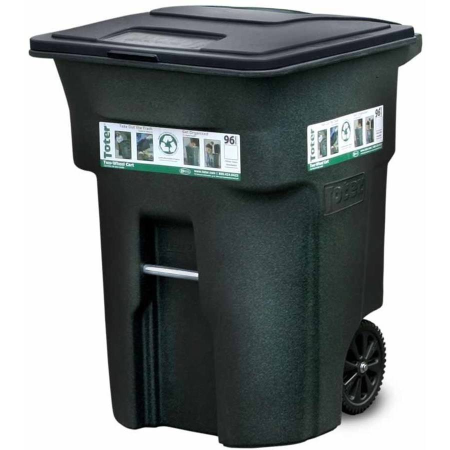 Toter 96 Gallon 2Wheel Trash Can Cart Greenstone