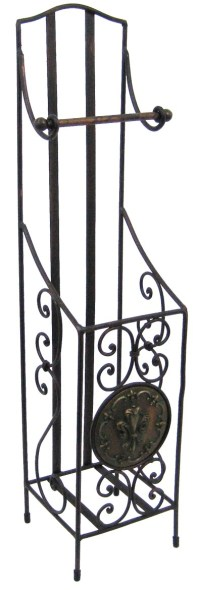 Fancy Antiqued Wrought Iron Toilet Paper Holder Tissue ...