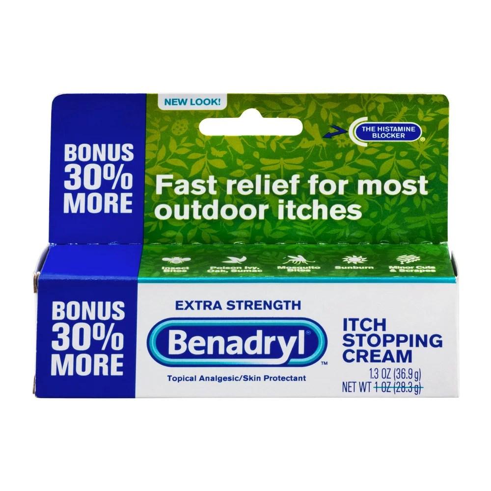 Benadryl Extra Strength Itch Stopping Cream - Walmart.com ...