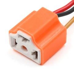 15pcs orange ceramic h4 light extension wiring harness socket connector for car [ 1100 x 1100 Pixel ]