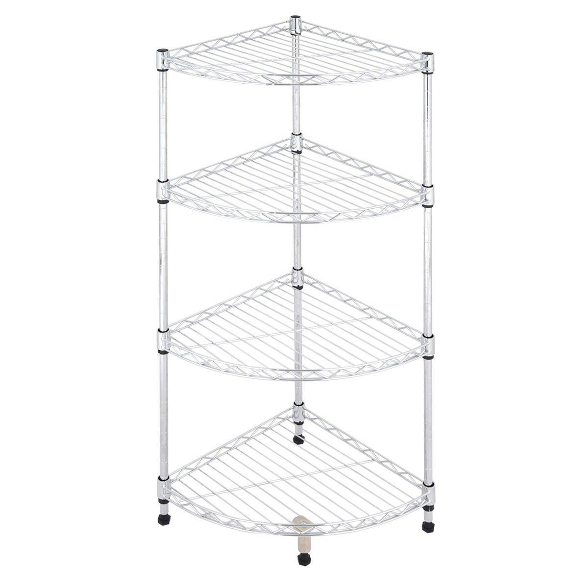 Ktaxon 4 Tier Corner Kitchen Shelf Display Rack Bathroom