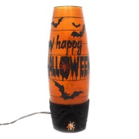 Stony Creek LIGHTED HALLOWEEN VASE W/ BATS Glass Electric ...