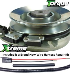 bundle 2 items pto electric blade clutch wire harness repair kit replaces husqvarna 120756 electric pto blade clutch w wire harness repair kit  [ 1500 x 1493 Pixel ]