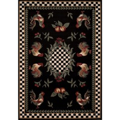 Walmart Kitchen Rugs Rolling Cart Avalon Collection Country Rooster Area Rug, Multi ...