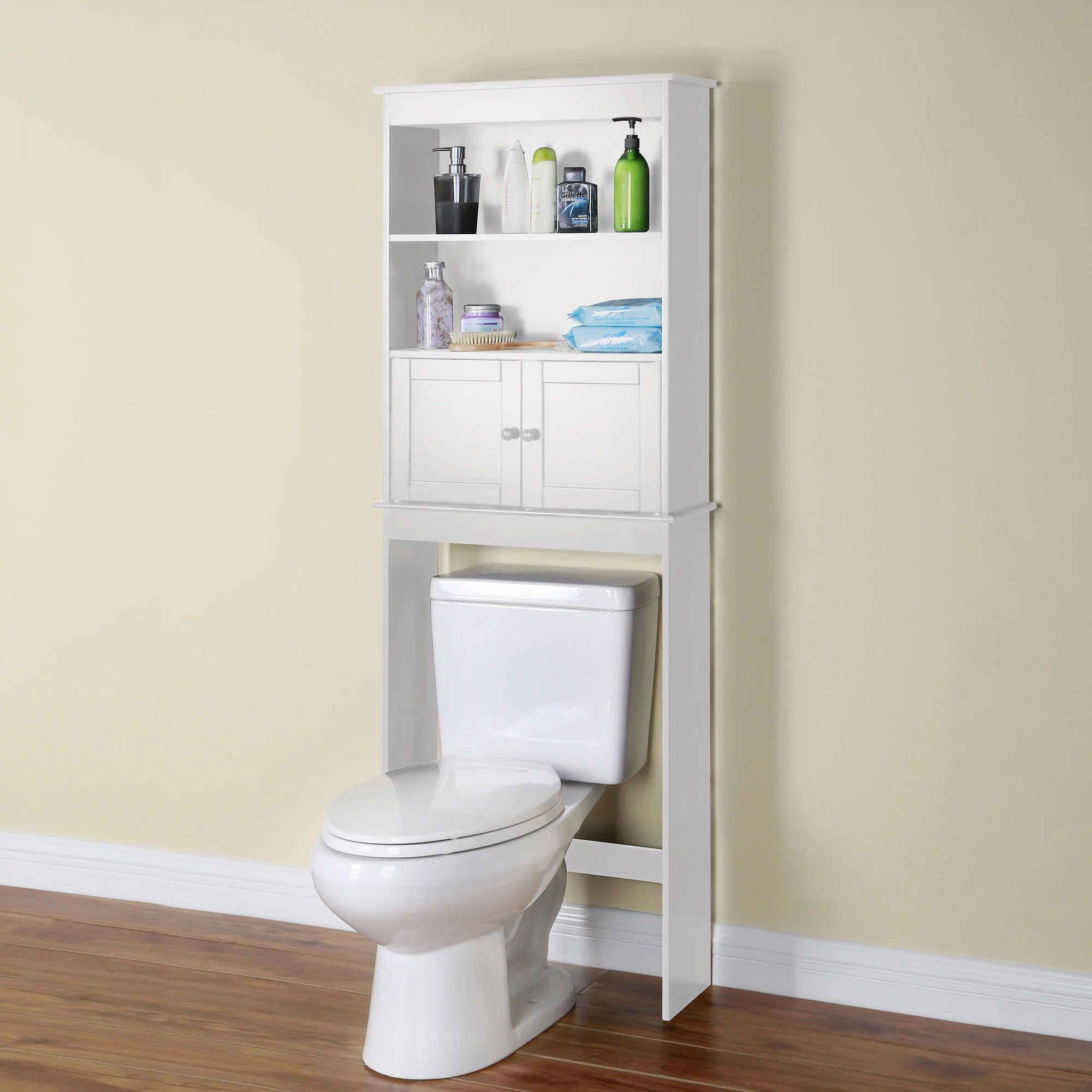 Over the Toilet Space Saver White