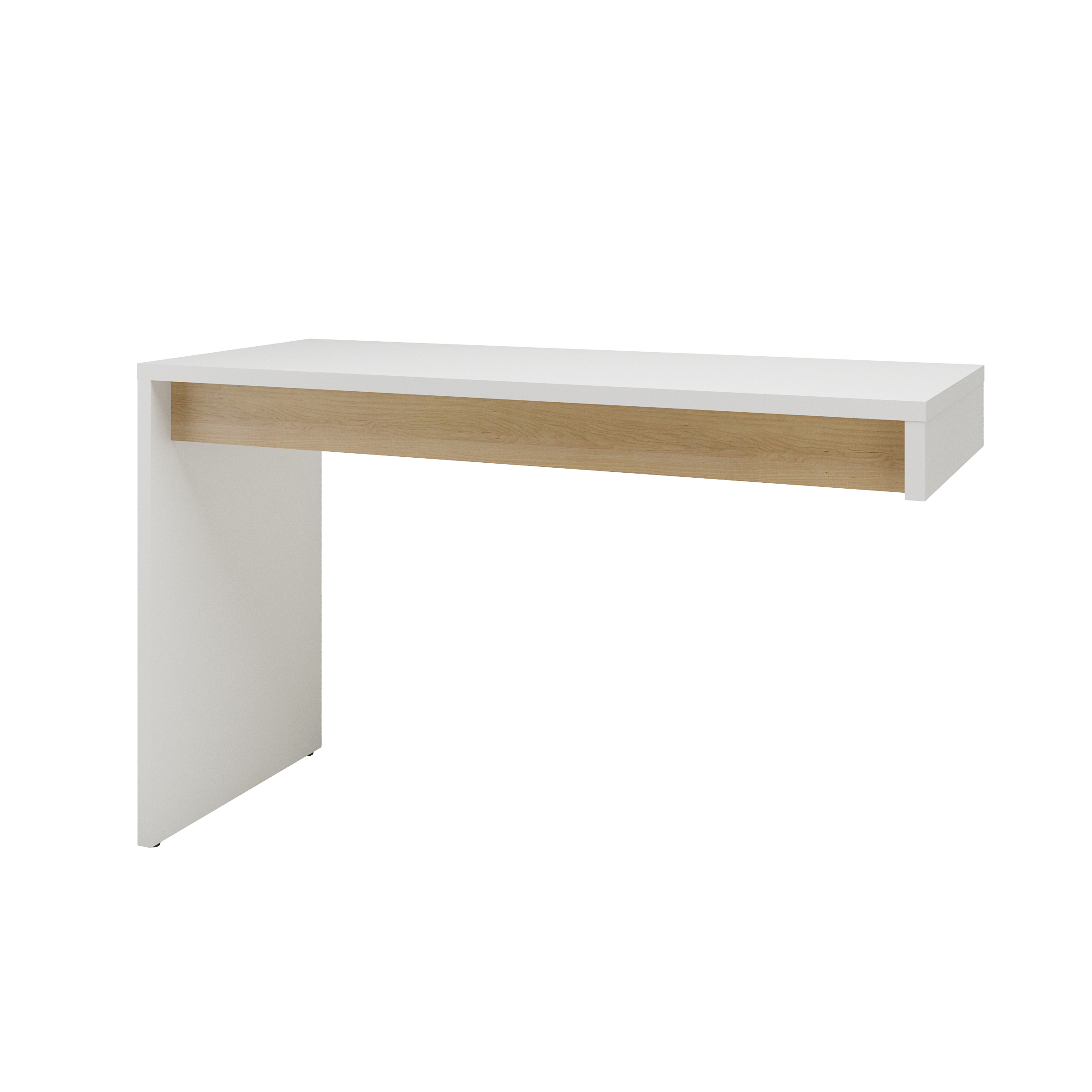 Nexera Chrono Reversible Desk Panel White and Natural