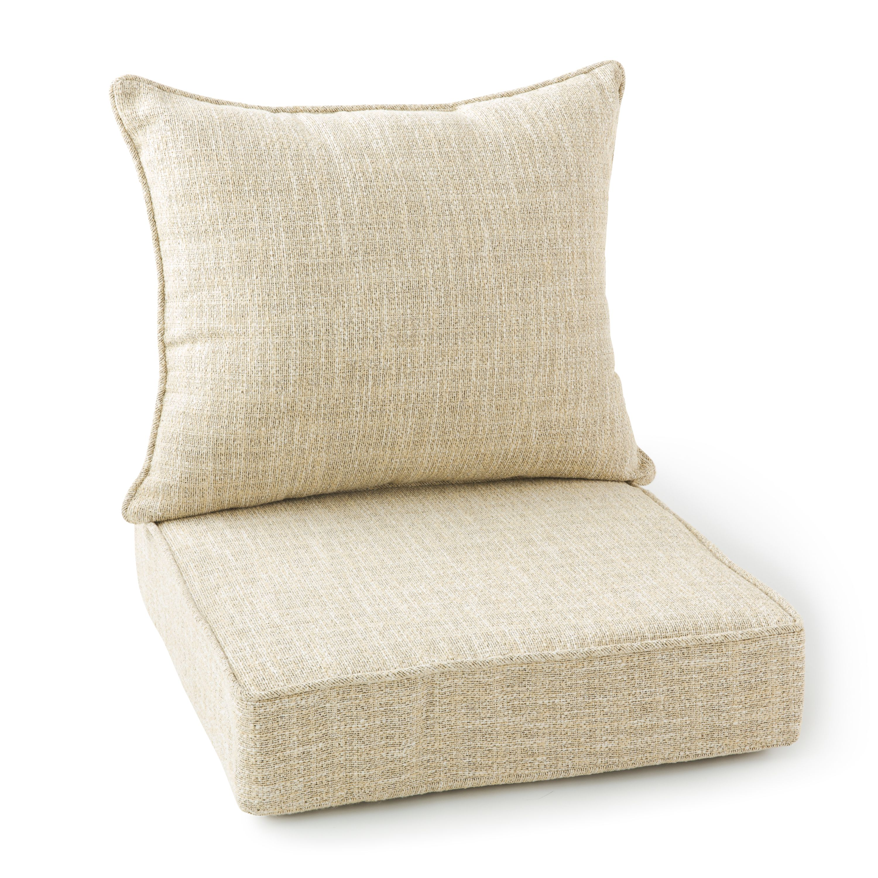 better homes gardens 2 piece outdoor lounge chair cushion set in jute