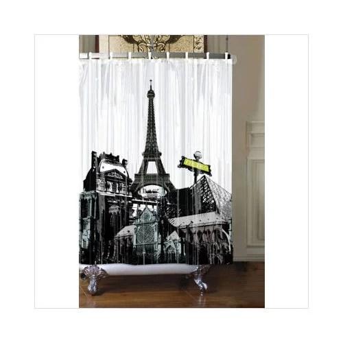 Rock The Bath Paris Shower Curtain Walmart Com