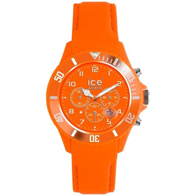 Ice-Watch Women's Matte CHM. FO.B.S.12 Orange Silicone Quartz Fashion Watch