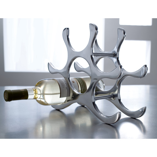 kindwer 6 bottle tabletop wine rack