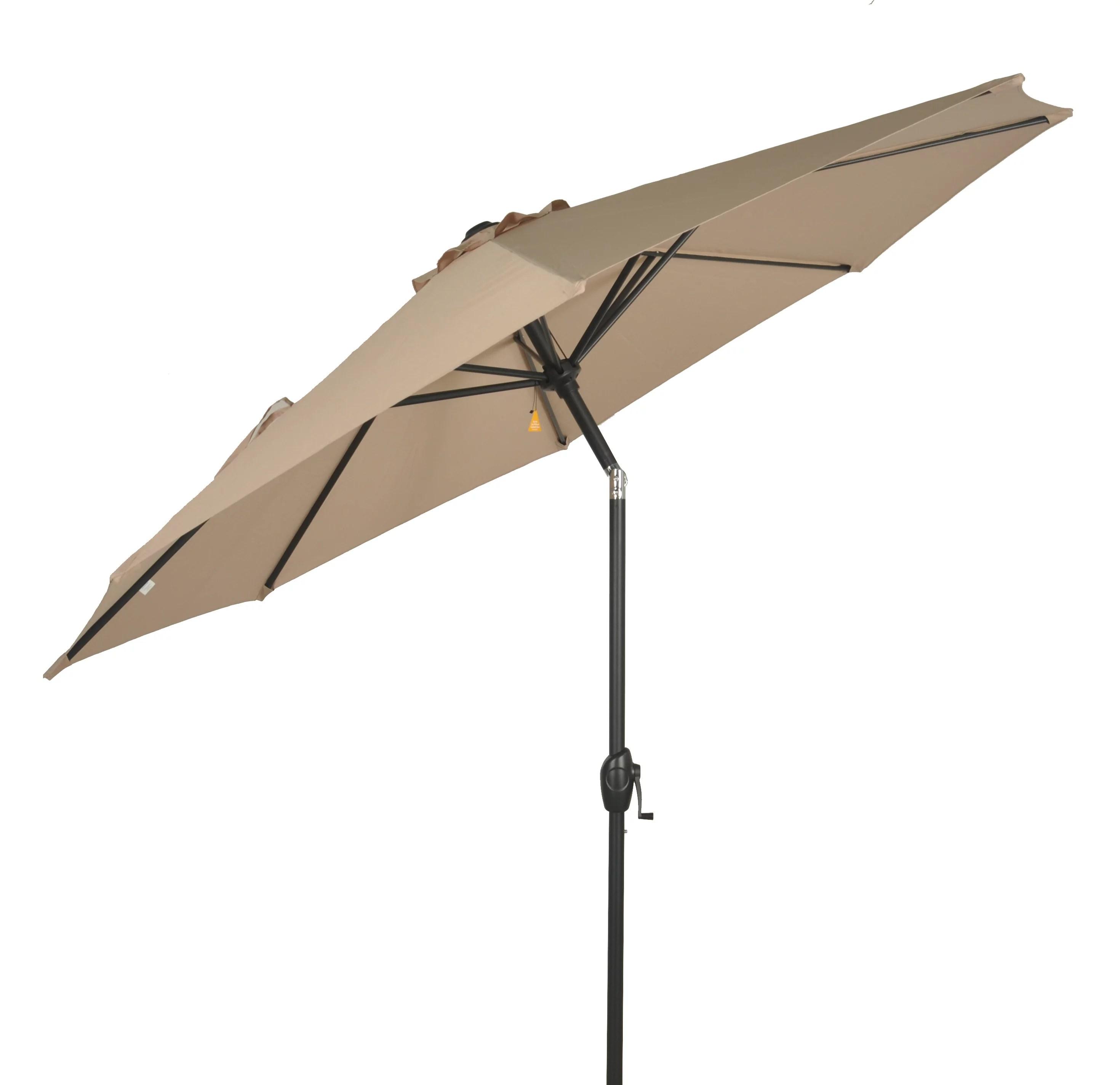 mainstays 9 outdoor tilt market patio umbrella tan