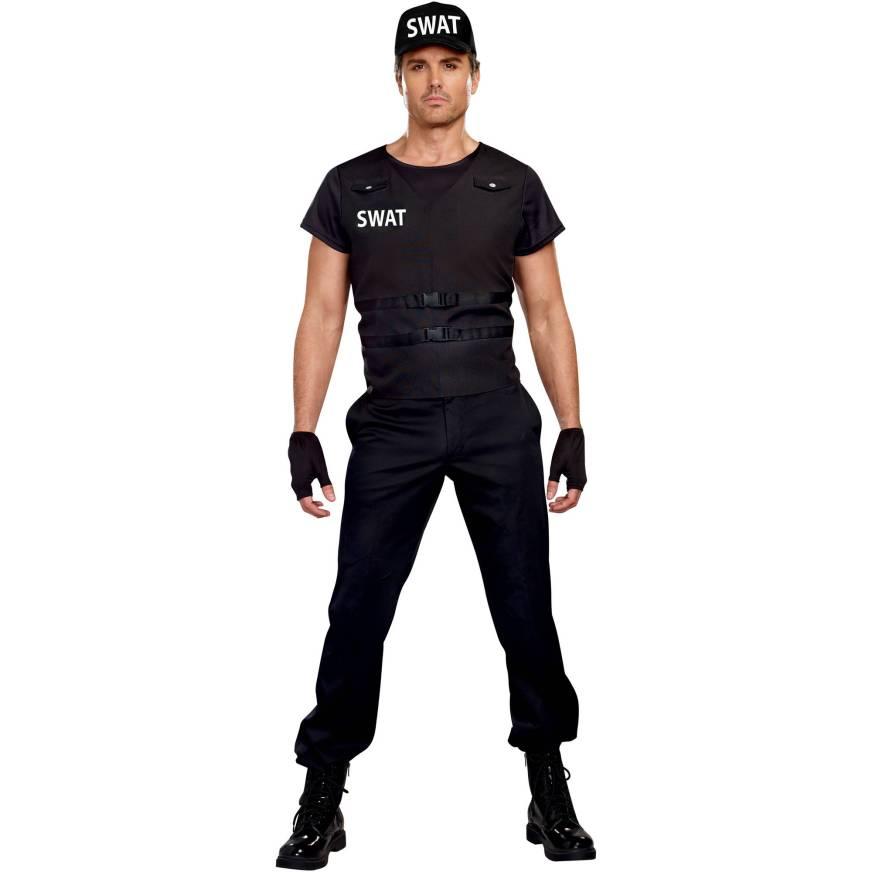 SWAT Commander Adult Men's Halloween Costume, Extra Large ...