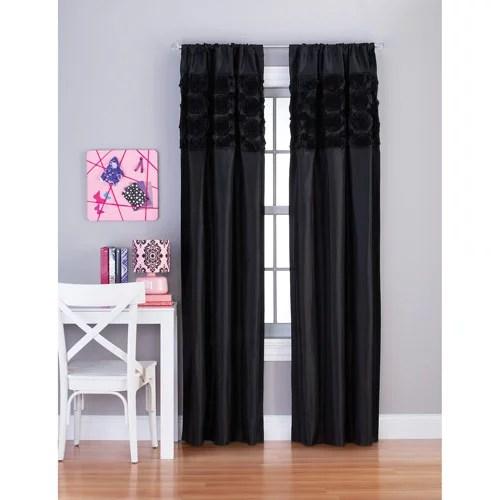Your Zone Rosette Window Girls Bedroom Curtains  Walmartcom