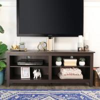 WE Furniture 58-inch Espresso Wood TV Stand with Removable ...