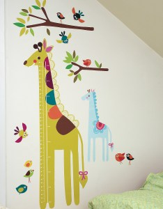 Wallies wall play giraffe growth chart vinyl peel and stick decor walmart also rh