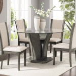 Roundhill Kecco Grey 5 Piece Glass Top Dining Set Table With 4 Chairs Walmart Com Walmart Com