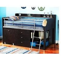 Charleston Storage Loft Bed with Desk, Espresso - Walmart.com