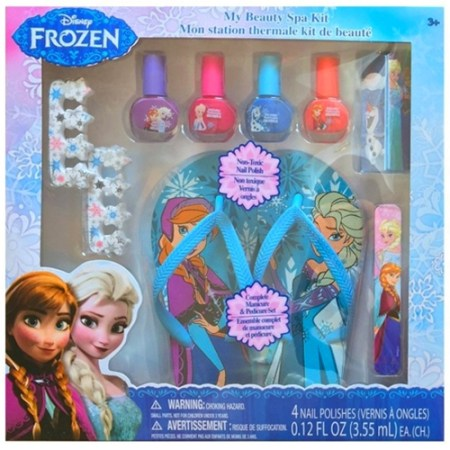 Disney Frozen Beauty Gift Set With Bonus Decorative Nail Art Lip Gloss