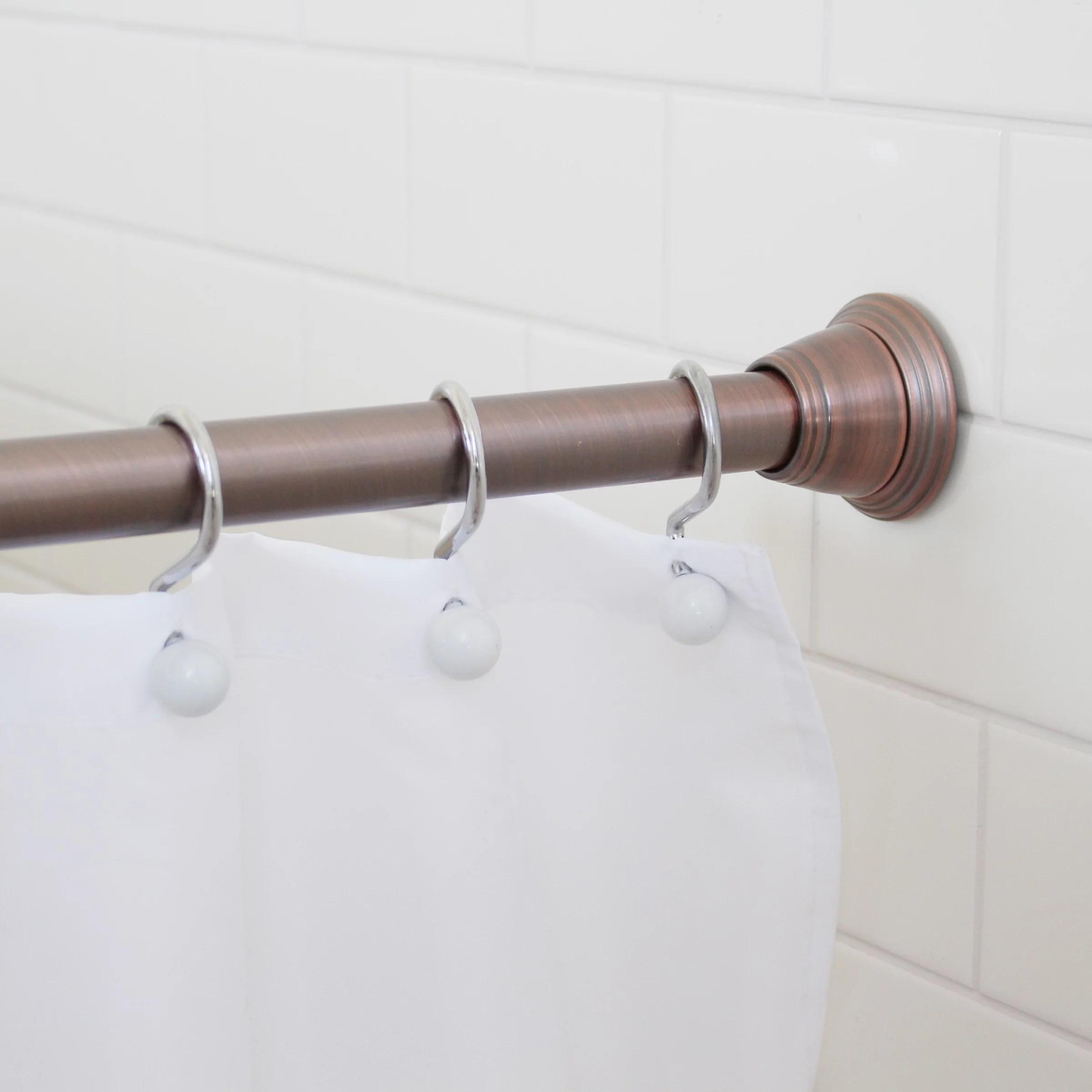 bronze shower curtain rods walmart com