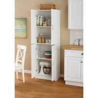 Mainstays 4-Shelf Multipurpose Storage Cabinet, White ...