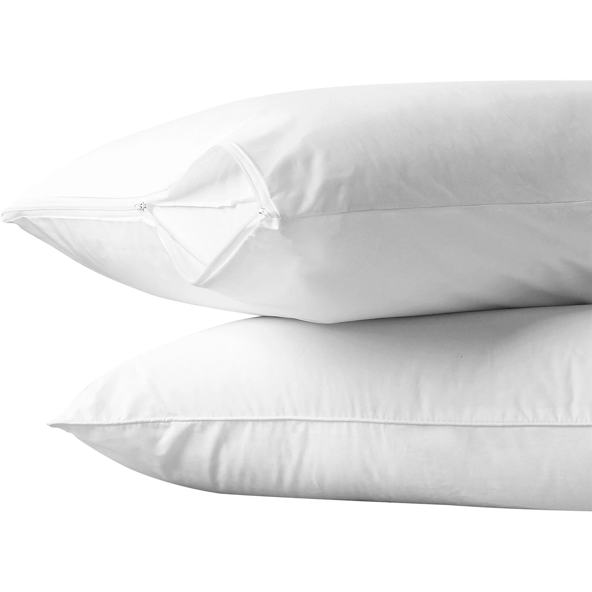 allerease cotton allergy protection pillow protector 2pk walmart com