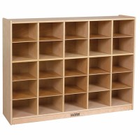 Birch Storage Cabinet with 25 Tray Cubbies - Walmart.com