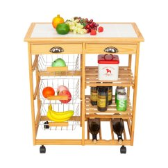 Portable Kitchen Cart Islands In Kitchens Zimtown Storage Island Table Rolling Trolley Stand Counter Top