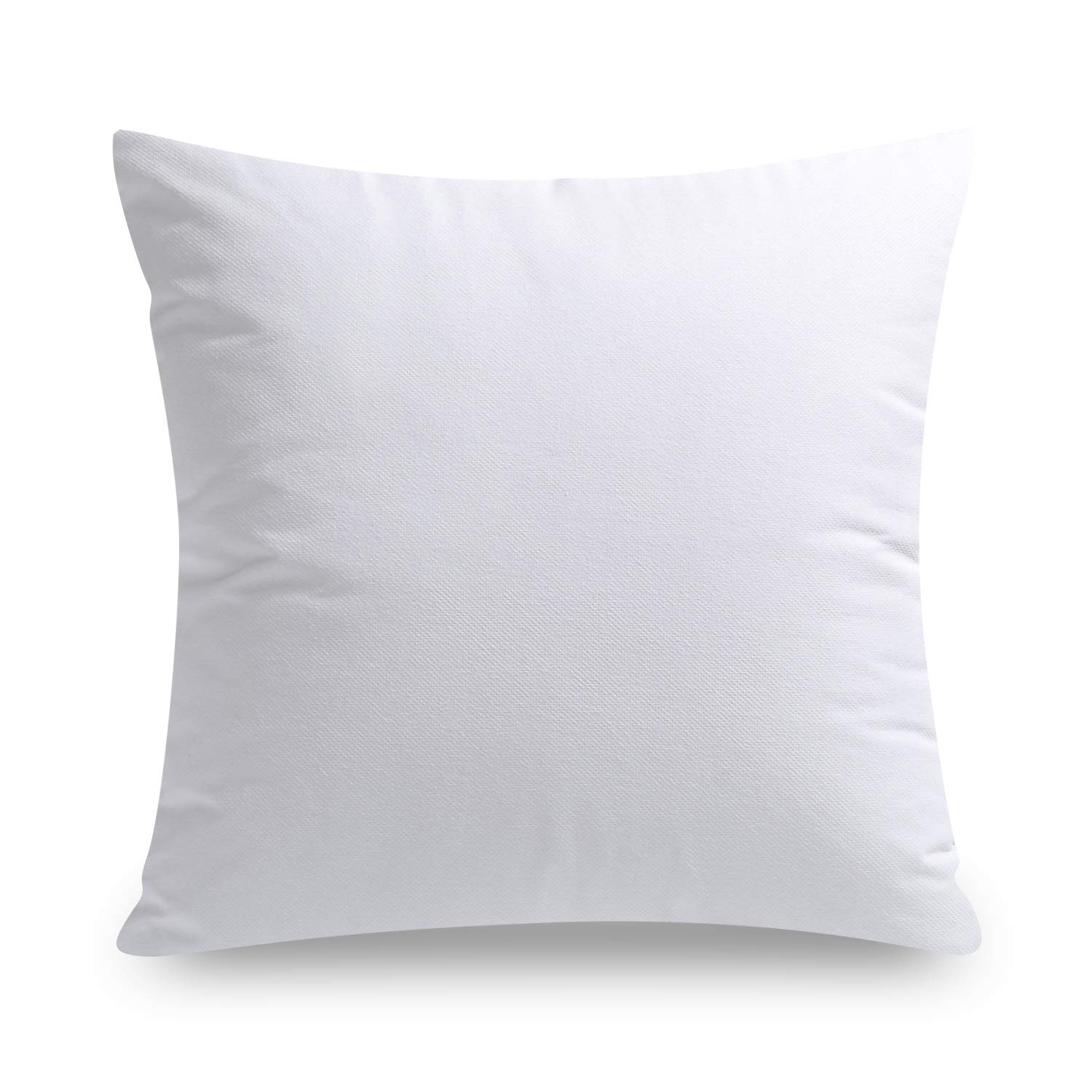 phantoscope hypoallergenic square form decorative throw pillow insert couch sham cusion stuffer 18 x 18 1 pack