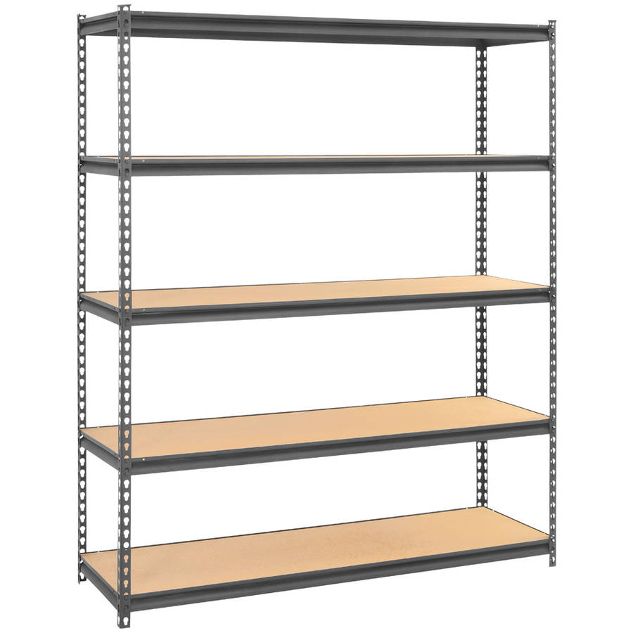 muscle rack 60 w x 18 d x 72 h steel commercial shelving unit 4000 lb capacity gray