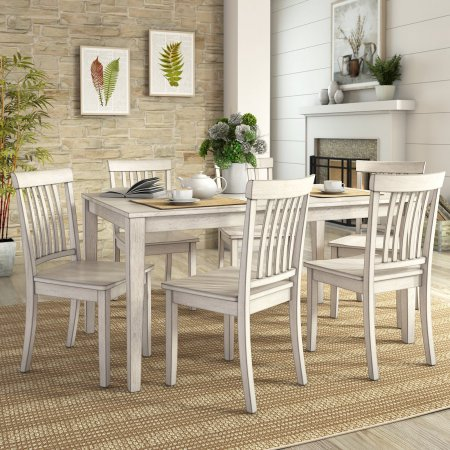 lexington dining chairs wingback chair and ottoman set weston home 7 piece 60 inch table walmart com