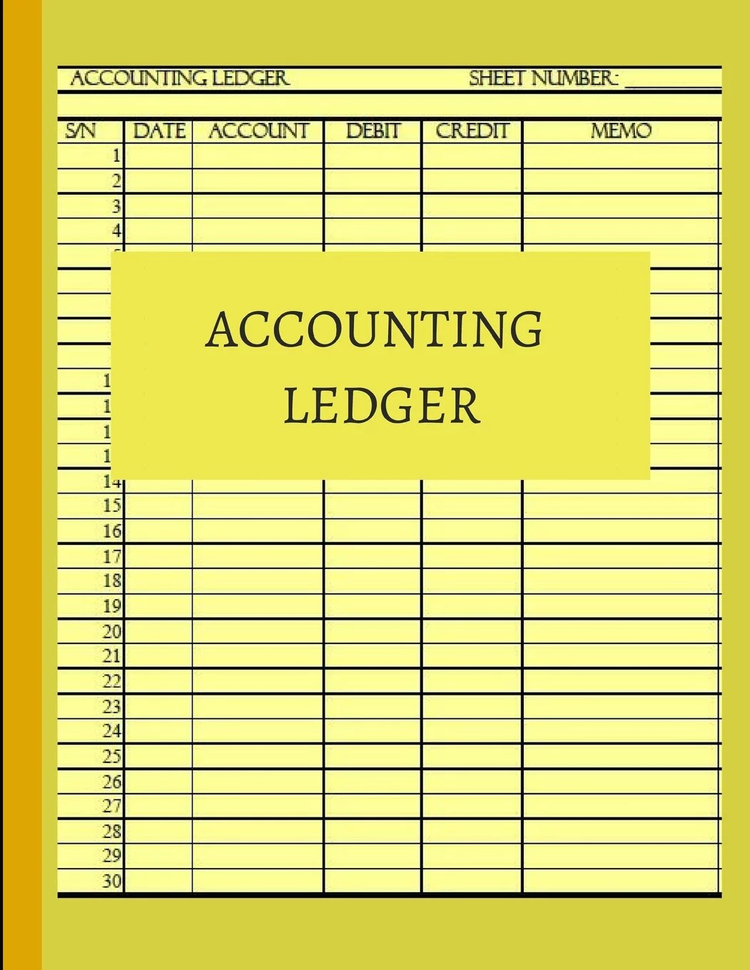 Accounting Ledger Basic Ledger Book For Monthly Weekly