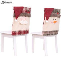 Christmas Dining Room Chair Covers Faux Leather Paint Spencer 1pc Snowman Santa Claus Hat Departments