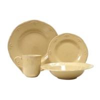 Thomson Pottery Caramel 16 Piece Dinnerware Set, Service ...
