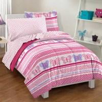 Dream Factory Butterfly Dots Bedding Comforter Set ...