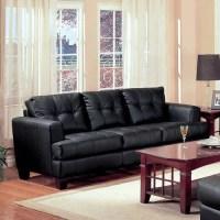 Coaster Samuel Bonded Leather Sofa, Multiple Colors ...
