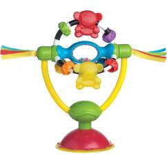 High Chair Suction Toys Black Wooden Spindle Playgro Spinning Toy 0182212107 For Baby Infant Toddler Walmart Com