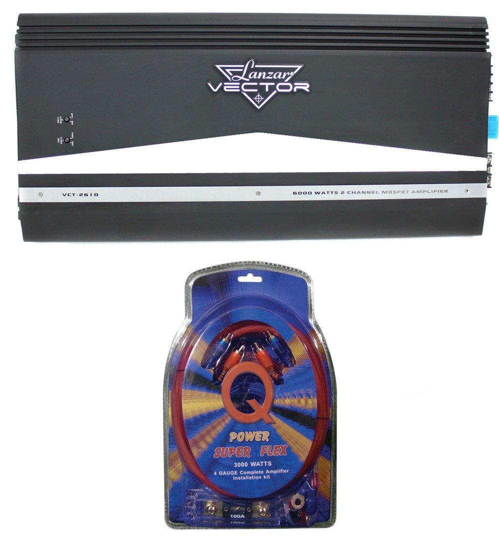 medium resolution of lanzar vct2610 6000w 2 channel amp car power amplifier 4 gauge wiring kit walmart com