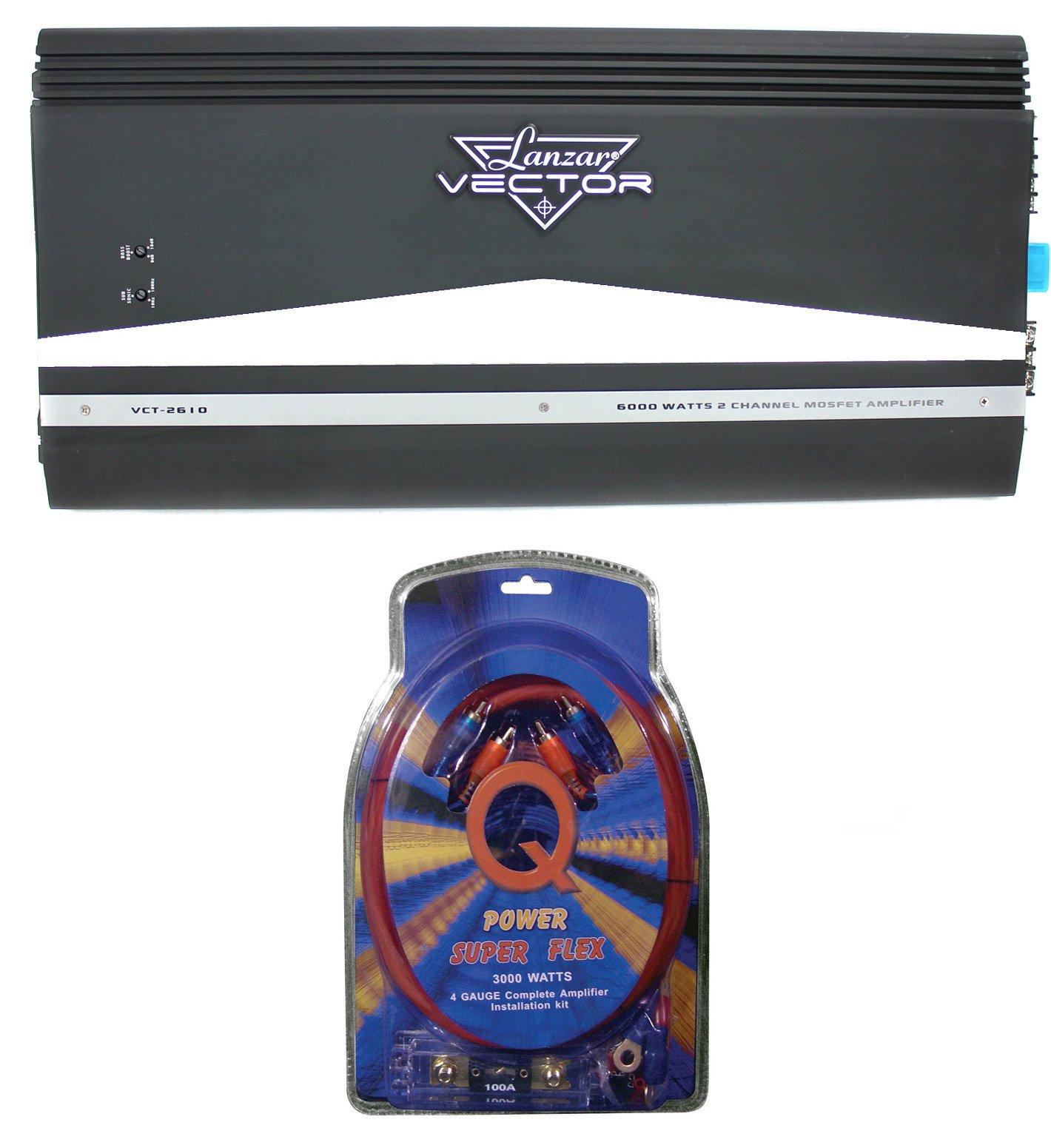 hight resolution of lanzar vct2610 6000w 2 channel amp car power amplifier 4 gauge wiring kit walmart com