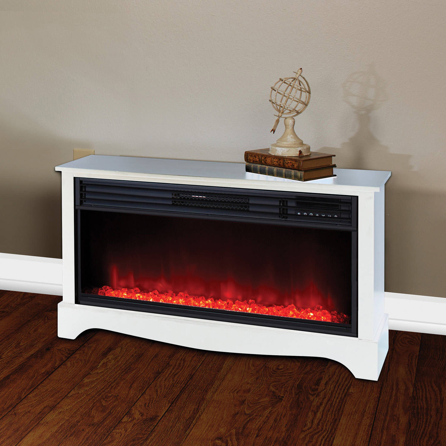 Lifesource 20 Tall Heater Fireplace with Color Change LED Affect White Cabinet  eBay