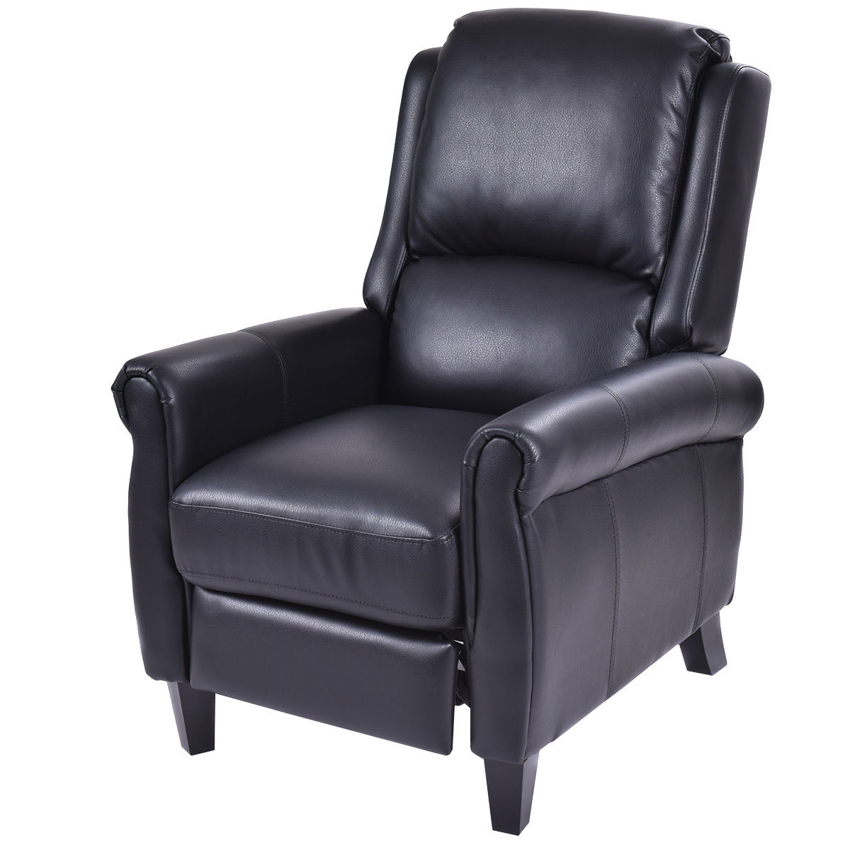 reclining accent chair best gaming reddit costway leather recliner push back living room home furniture w leg rests walmart com