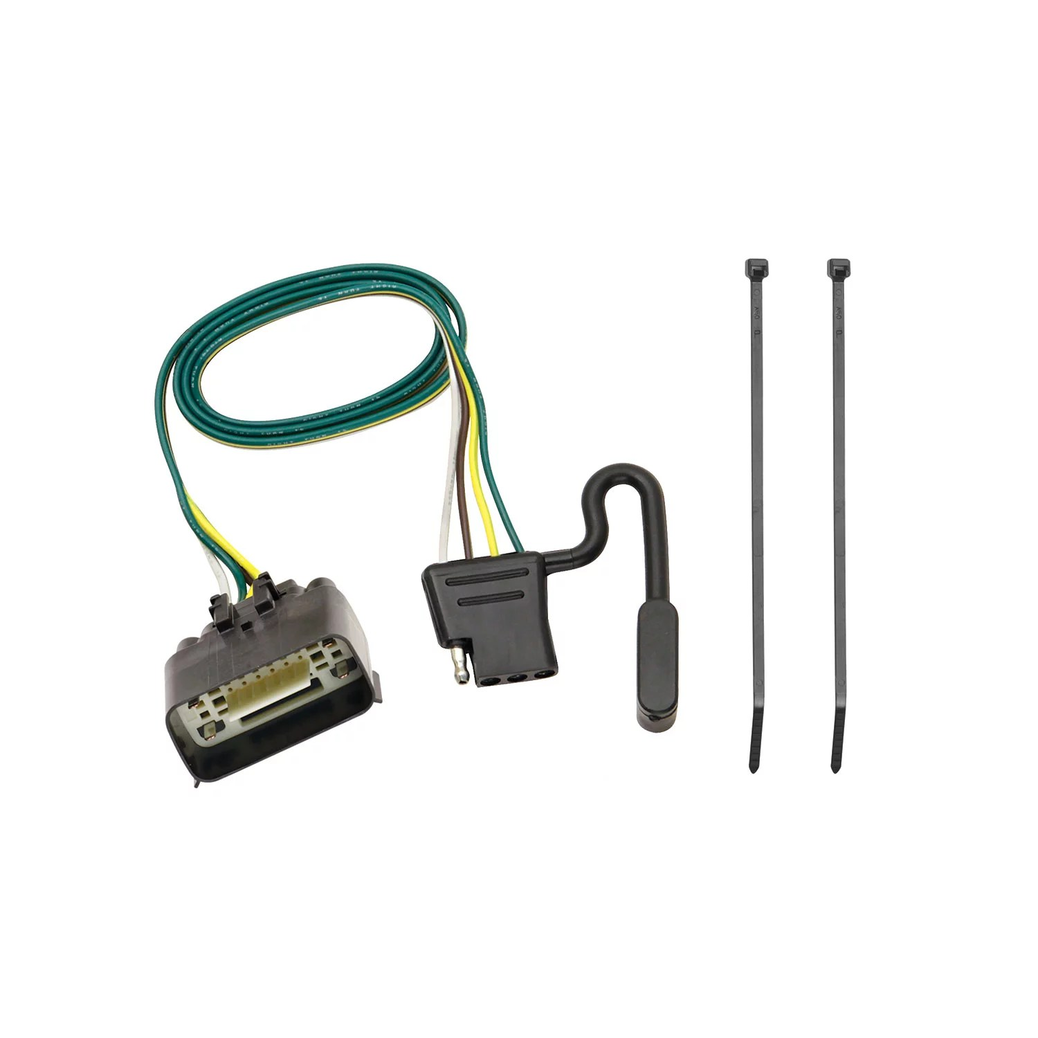 hight resolution of tekonsha 118260 trailer wiring connector 4 way flat replacement for oem tow package wiring harness