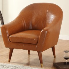 Mid Century Modern Leather Accent Chair Waiting Chairs For Sale Bonded Living Room Walmart Com