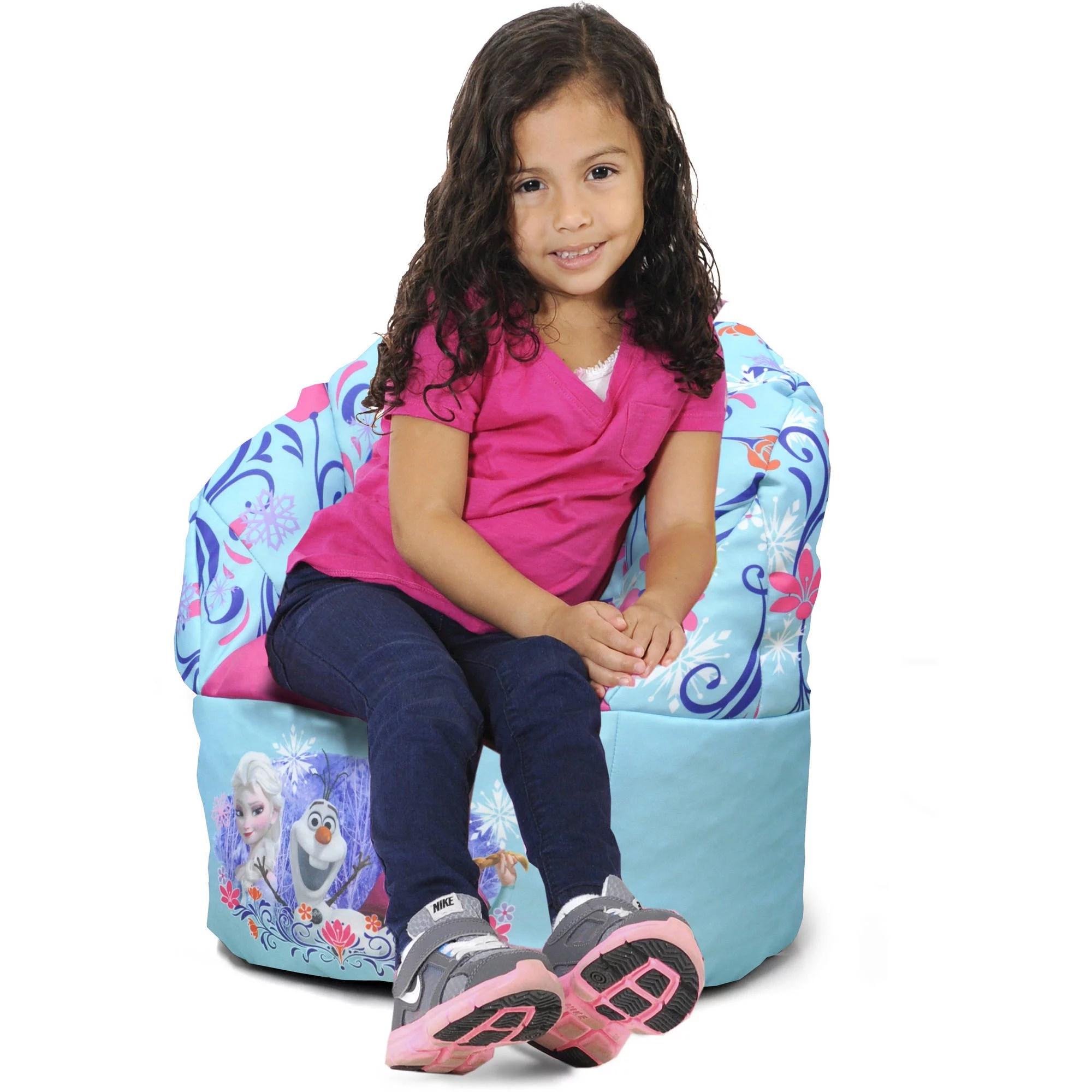 mini bean bag chair childrens table and set wooden disney frozen blue walmart com