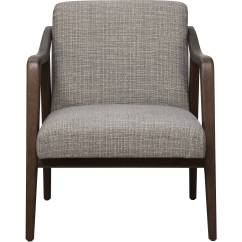 Wood Frame Accent Chairs Chair Covers Made To Measure Mid Century In Kendrick Driftwood Walmart Com